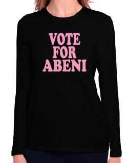 Vote For Abeni Long Sleeve T-Shirt-Womens