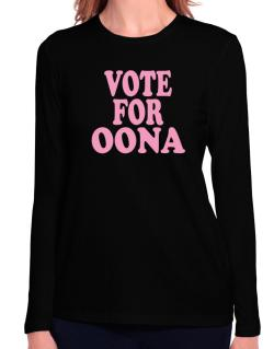 Vote For Oona Long Sleeve T-Shirt-Womens