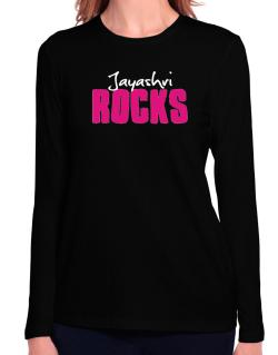 Jayashri Rocks Long Sleeve T-Shirt-Womens