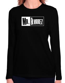 Mr. Alvarez Long Sleeve T-Shirt-Womens