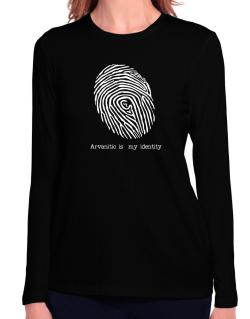Arvanitic Is My Identity Long Sleeve T-Shirt-Womens