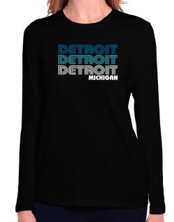 Detroit State Long Sleeve T-Shirt-Womens