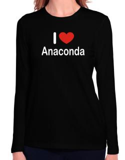 I Love Anaconda Long Sleeve T-Shirt-Womens