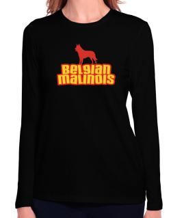 Breed Color Belgian Malinois Long Sleeve T-Shirt-Womens