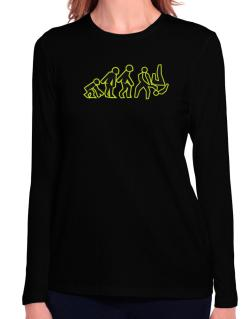 Evolution - Aikido Long Sleeve T-Shirt-Womens