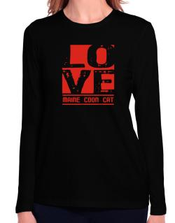 Love Maine Coon Long Sleeve T-Shirt-Womens