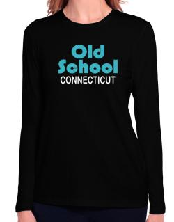 Old School Connecticut Long Sleeve T-Shirt-Womens