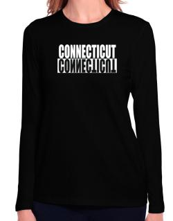 Connecticut Negative Long Sleeve T-Shirt-Womens