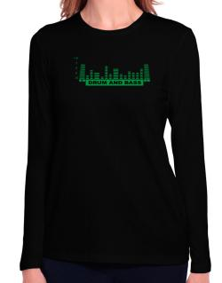 Drum And Bass - Equalizer Long Sleeve T-Shirt-Womens