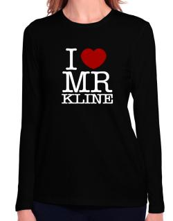 I Love Mr Kline Long Sleeve T-Shirt-Womens
