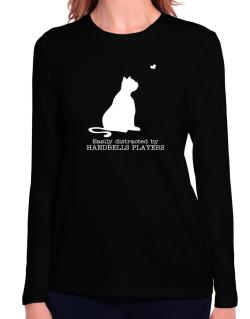 Easily Distracted By Handbells Players Long Sleeve T-Shirt-Womens