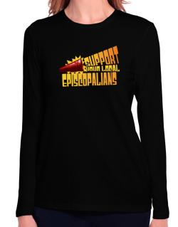 Support Your Local Episcopalians Long Sleeve T-Shirt-Womens