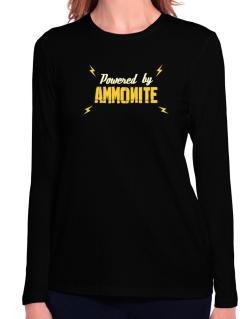 Powered By Ammonite Long Sleeve T-Shirt-Womens