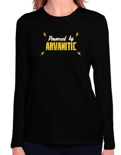 Powered By Arvanitic Long Sleeve T-Shirt-Womens