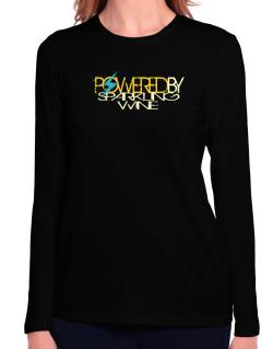 Powered By Sparkling Wine Long Sleeve T-Shirt-Womens