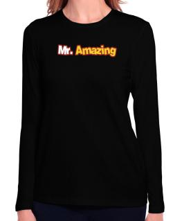 Mr. Amazing Long Sleeve T-Shirt-Womens