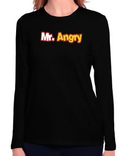 Mr. Angry Long Sleeve T-Shirt-Womens