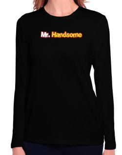 Mr. Handsome Long Sleeve T-Shirt-Womens