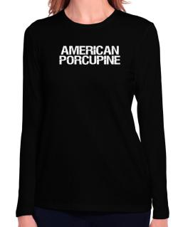 American Porcupine - Vintage Long Sleeve T-Shirt-Womens