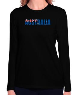 Australia Flag  Long Sleeve T-Shirt-Womens