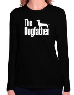 The dogfather Dachshund Long Sleeve T-Shirt-Womens