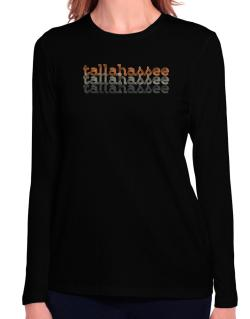Tallahassee repeat retro Long Sleeve T-Shirt-Womens