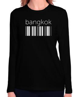 Bangkok barcode Long Sleeve T-Shirt-Womens