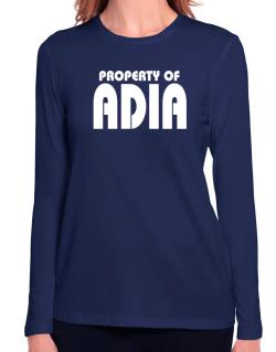 Property Of Adia Long Sleeve T-Shirt-Womens