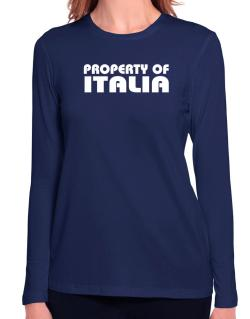Property Of Italia Long Sleeve T-Shirt-Womens