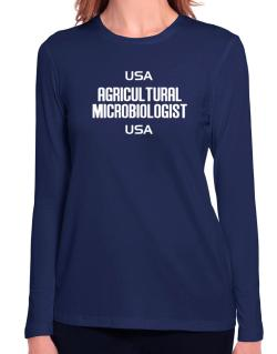 Usa Agricultural Microbiologist Usa Long Sleeve T-Shirt-Womens
