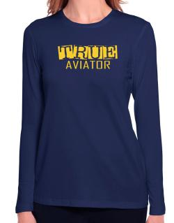 True Aviator Long Sleeve T-Shirt-Womens