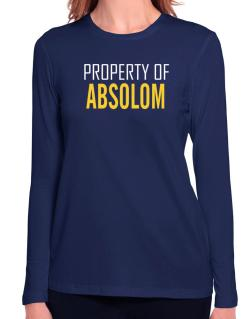 Property Of Absolom Long Sleeve T-Shirt-Womens