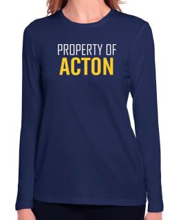 Property Of Acton Long Sleeve T-Shirt-Womens