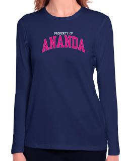 Property Of Ananda Long Sleeve T-Shirt-Womens