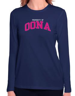 Property Of Oona Long Sleeve T-Shirt-Womens