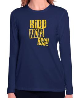 Kidd Kicks Ass!! Long Sleeve T-Shirt-Womens