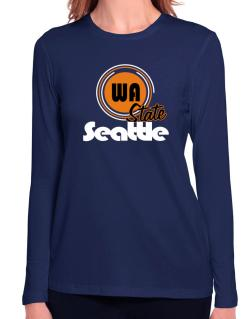 Seattle - State Long Sleeve T-Shirt-Womens