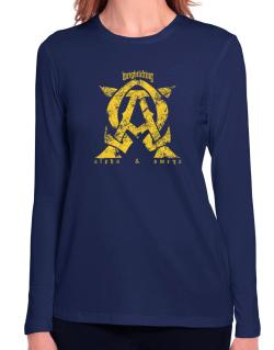 Weightlifting Alpha And Omega Long Sleeve T-Shirt-Womens