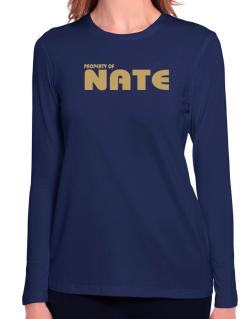 Property Of Nate Long Sleeve T-Shirt-Womens