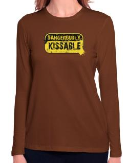 Dangerously Kissable Long Sleeve T-Shirt-Womens