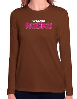 Wanda Rocks Long Sleeve T-Shirt-Womens