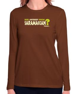 Does Anybody Know Saramaccan? Please... Long Sleeve T-Shirt-Womens