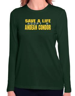 Save A Life, Adopt An Andean Condor Long Sleeve T-Shirt-Womens