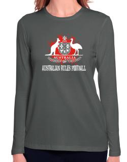 Australia Australian Rules Football / Blood Long Sleeve T-Shirt-Womens