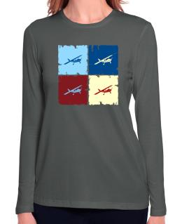 """ Aerobatics - Pop art "" Long Sleeve T-Shirt-Womens"