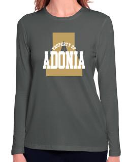 Property Of Adonia Long Sleeve T-Shirt-Womens