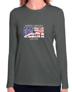 Grandpa Asheville - Us Flag Long Sleeve T-Shirt-Womens
