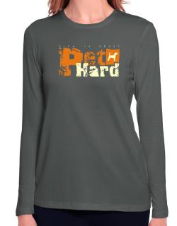 Life Is Short Pet Hard Beagle Long Sleeve T-Shirt-Womens