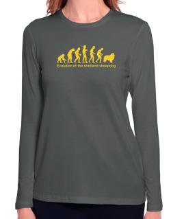 Evolution Of The Shetland Sheepdog Long Sleeve T-Shirt-Womens