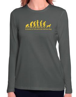 Evolution Of The Peruvian Hairless Dog Long Sleeve T-Shirt-Womens